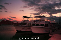 Dive Boats Moored by Steven Daniel